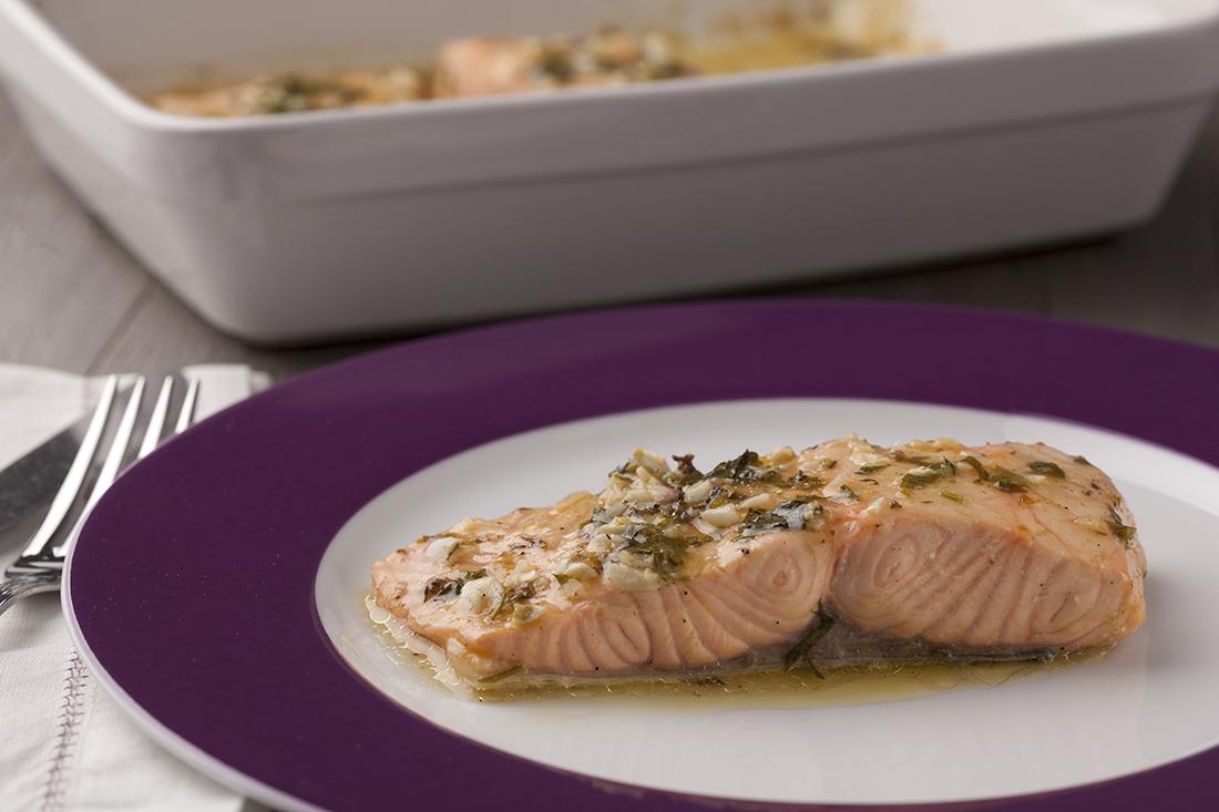 receta de salmon al horno