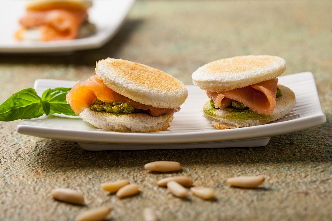 receta de canapes de salmon ahumad