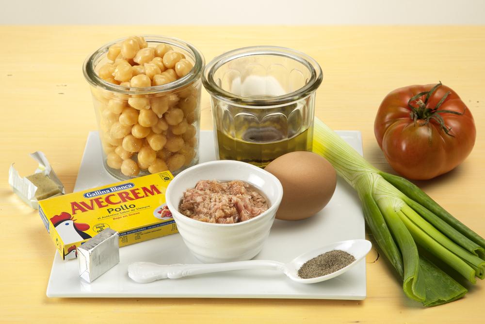 receta de ensalada de garbanzos y atún
