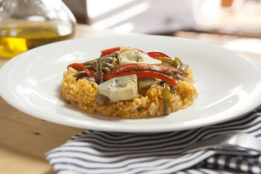 receta de paella vegetariana