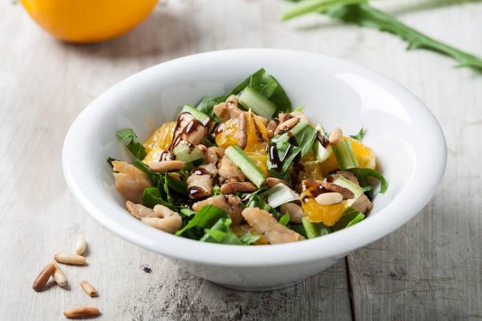 receta de ensalada con pavo y naranjas