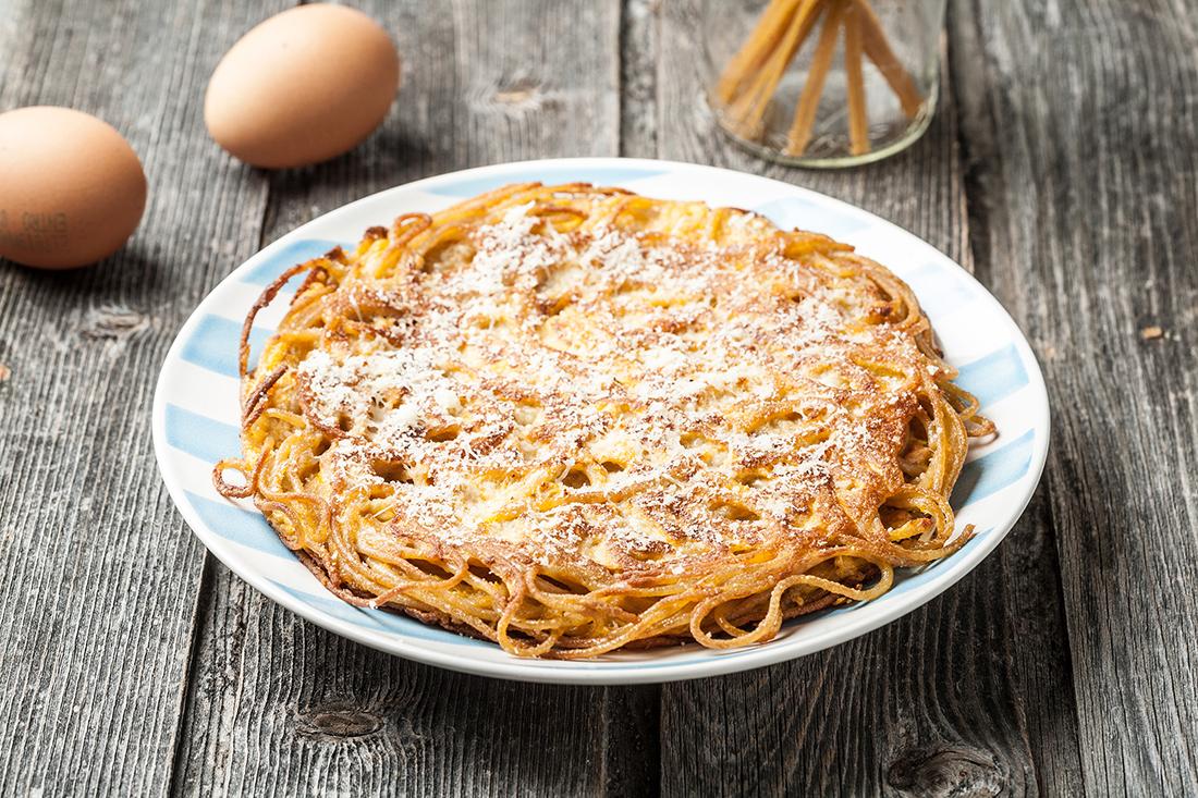 receta de tortilla de espaguetis