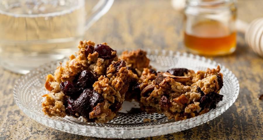 receta de crocante de frutos secos cereales y chocolate