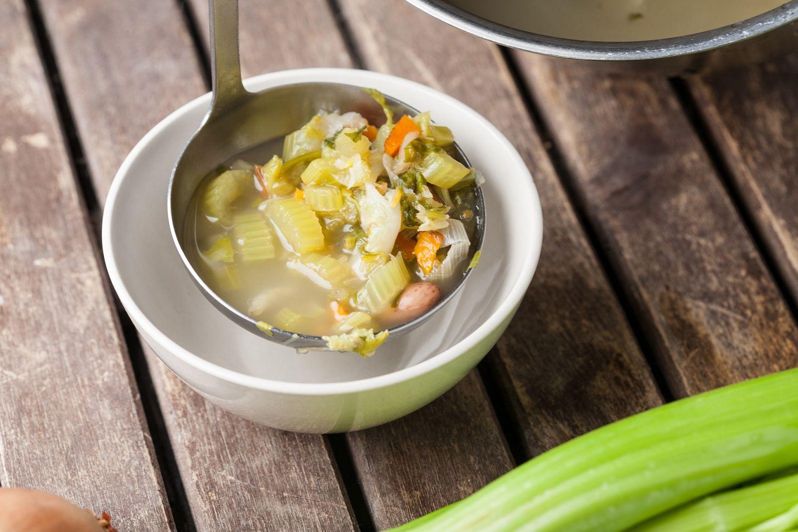 sopas, verduras