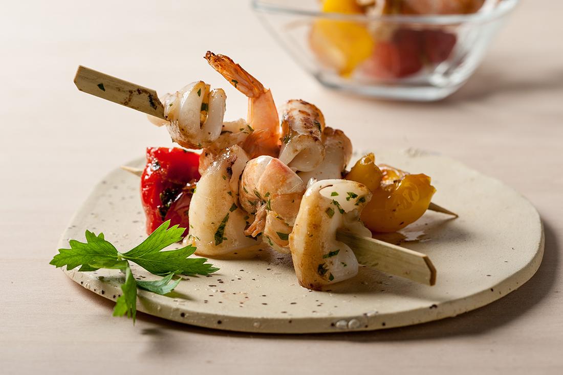 receta de pinchos con sabor a mar